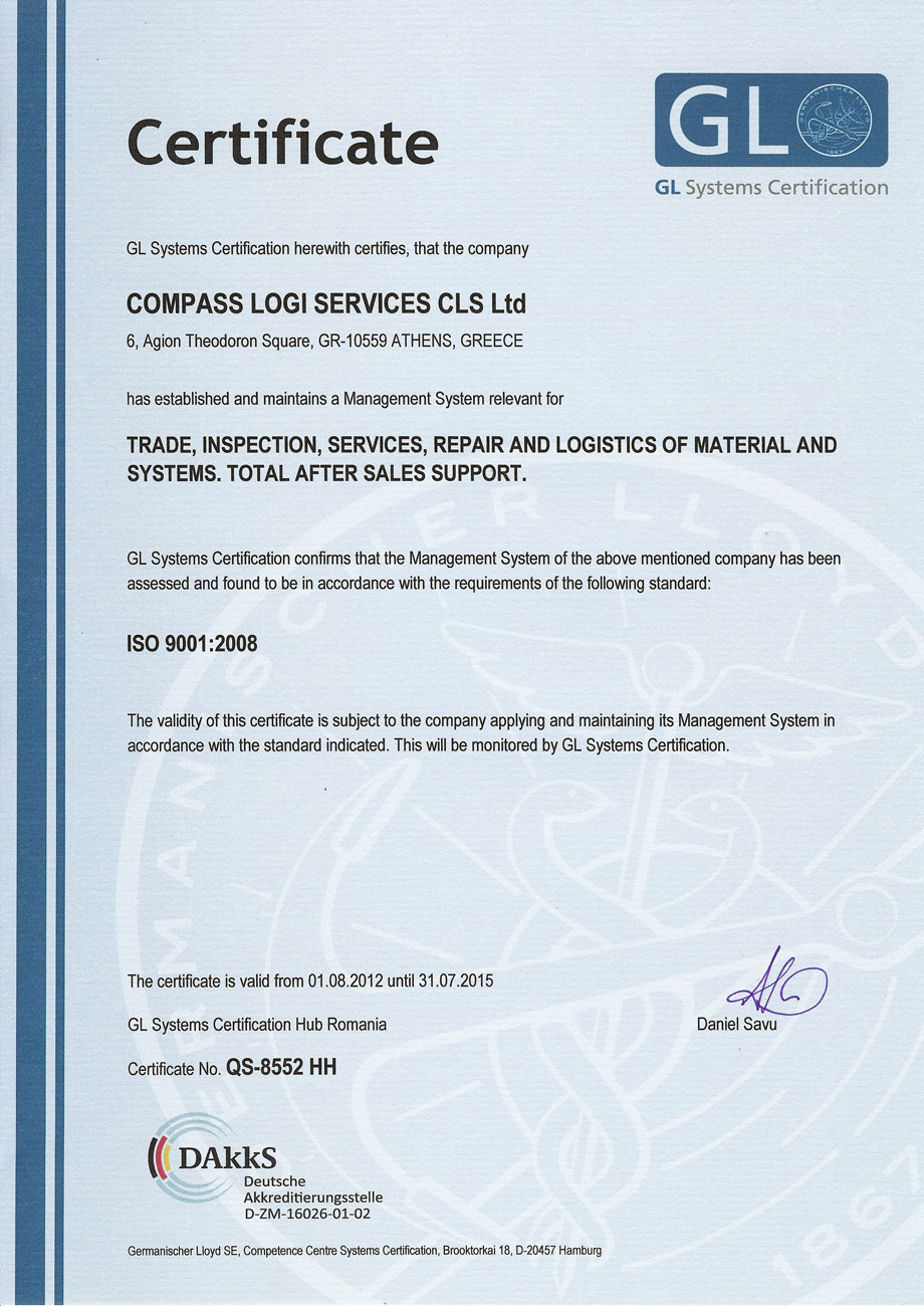 Cls Ltd Iso 90012008